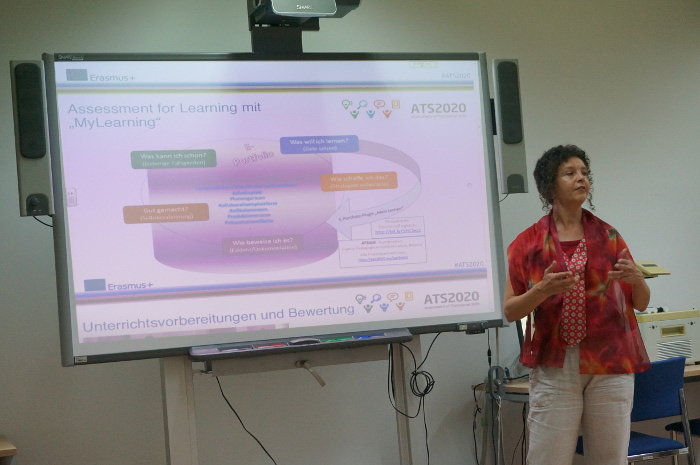 Andrea presents aspects of the ATS2020 project