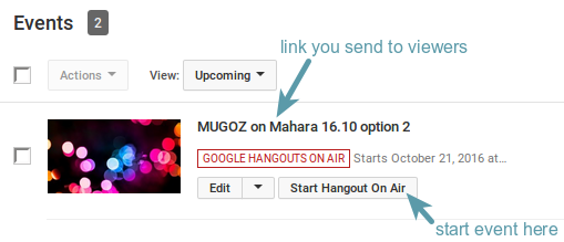 Different links for different hangouts