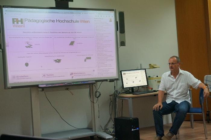 Reinhard discusses portfolio use at PH Wien